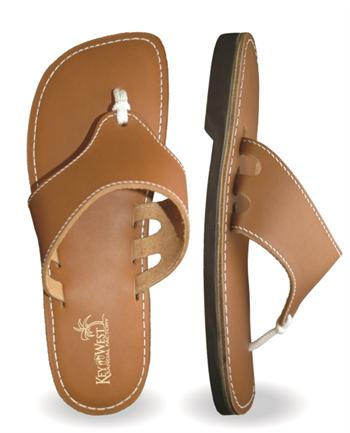 Mens Original Leather Bahama Tan Sandals (Beige | Saddle)