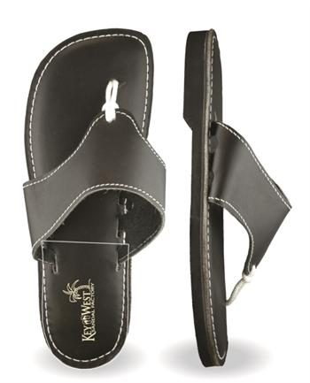 Mens Original Leather Black Sandals