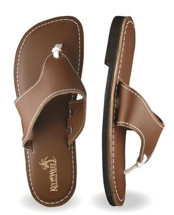 Mens Original Leather Coconut Brown Sandals (Chocolate | Dark Brown)