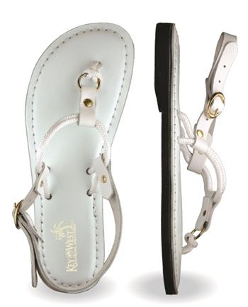 Womens Flagler Leather White Sandals
