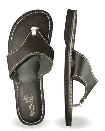 Womens Original Leather Black Sandals