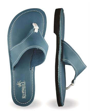 Womens Original Leather Ocean Blue Sandals