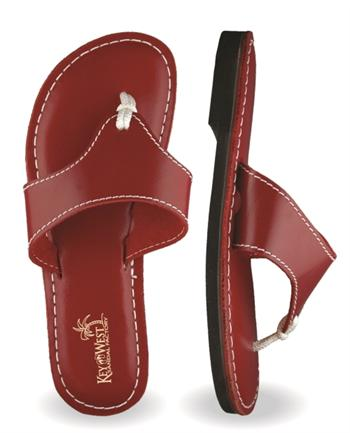 Womens Original Leather Poinciana Sandals (Dark Red | Cherry)