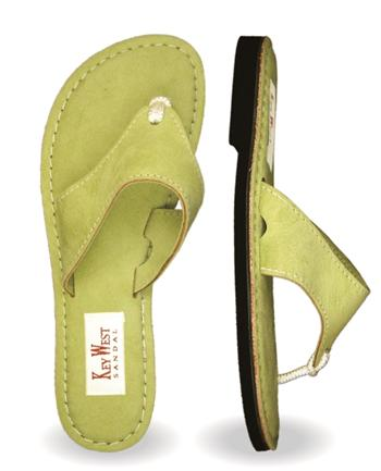 Womens Ultra Leather Key Lime Sandals (Green | Avocado)